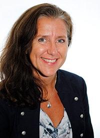 Porträtt på Åsa Himmelsköld, hälso- och sjukvårdsdirektör i Region Uppsala.