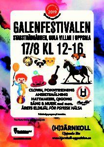 Galenfestivalen 17 augusti 2019 @ Stadsträdgården, Uppsala