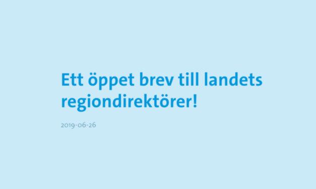 Ett öppet brev till landets regiondirektörer!