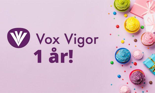 Vox Vigor fyller ett år – Vi blickar tillbaka