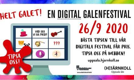 GALENFESTIVALEN i Uppsala BLIR DIGITAL <br/> – TÄVLING UTLYSES!